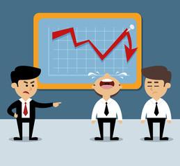 Business chart decrease
