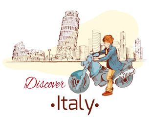 Discover Italy poster