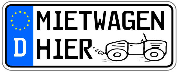 Mietwagen Schild  #140922-svg02