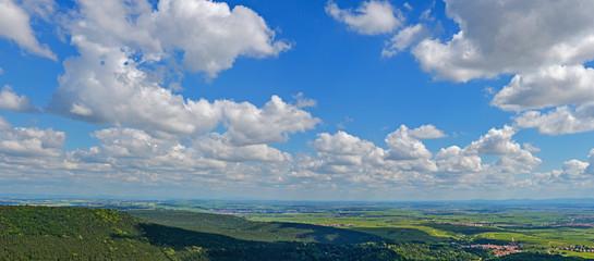 Panorama nördliche Rheinebene Deutschland