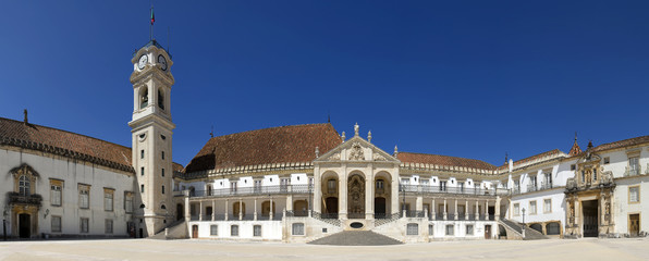 The main building of the University of Coimbra, Portugal