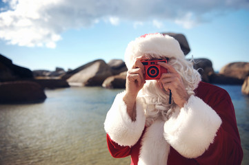 Getting your picture taken by Santa