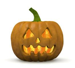 zucca di halloween con interno illuminato