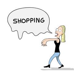 shopping zombie
