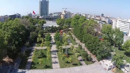 aerial istanbul turkey gezi parki taksim meydani taksim square