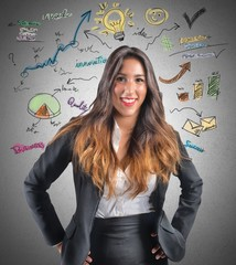 Creative businesswoman