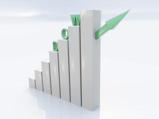 Dow Jones Conjuncture 3D Concept