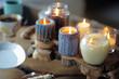 Beautiful ablaze candle - 70543936