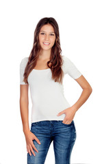 Atrractive young girl with jeans