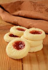 Raspberry shortbread cookies