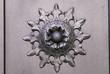 canvas print picture - Fiore di ferro battuto, decorazione, dettaglio