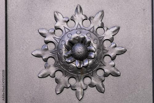 canvas print picture Fiore di ferro battuto, decorazione, dettaglio