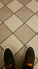 Shoes on tile