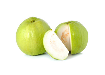 Guava fruit on isolated white background