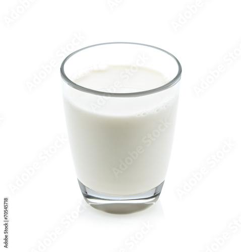 Leinwandbild Motiv glass of milk isolated on white