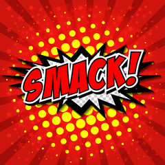 Smack! Comic Speech Bubble, Cartoon.