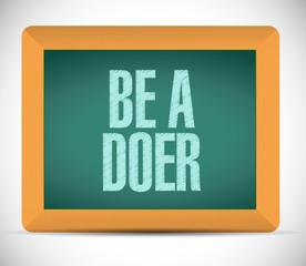 be a doer message message illustration design