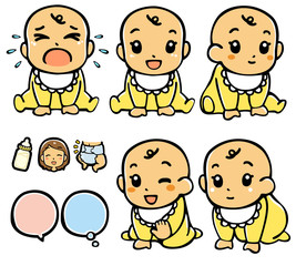 赤ちゃん表情集