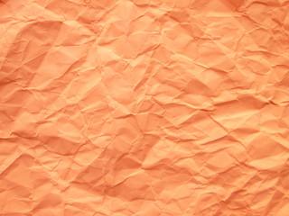 Paper crumpled orange