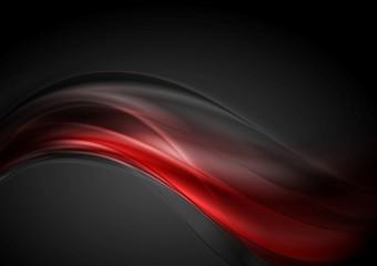 Dark red glow waves background