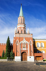 Nicholas Tower - Second Passage Tower in Red Square, Moscow Russ