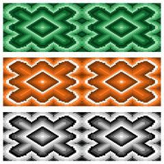 Set of three seamless rhombic patterns