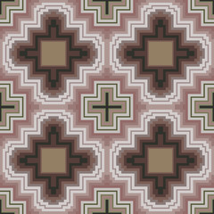 Seamless pattern in soft cocoa hues