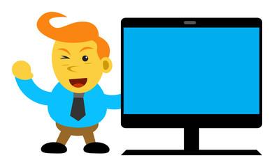 illustration cartoon character of businessman