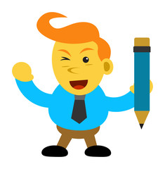 Illustration cartoon character of businessman
