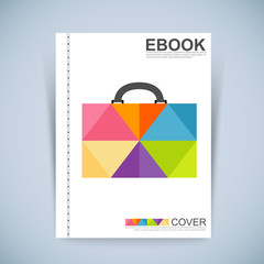 Cover Book Digital Design Minimal Style Template