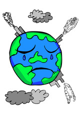 Doodle Earth -  Pollution