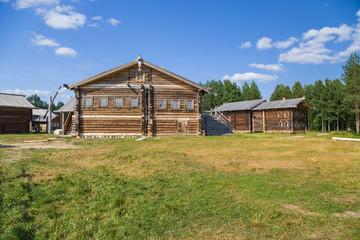 Malye Korely, Russia. Home-yards, 19th century