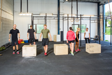 Athletes In Box Jumping Class
