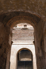 Arch inside the Coliseum in Rome, Italy