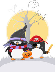 Cute Halloween Penguins