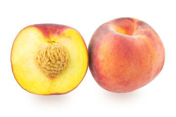 One whole peach and one half peach