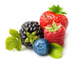 Summer berry fruits. Berries.