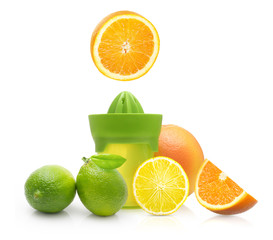 Green manual juicer and citrus fruit