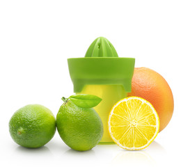 Green manual juicer and citrus fruit