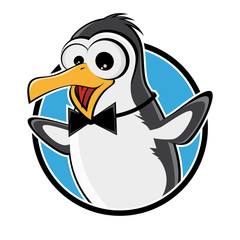 pinguin lustig logo symbol zeichen