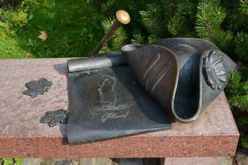 "Fragment of sculptural composition ""Kant's Bench"" in Kaliningrad"