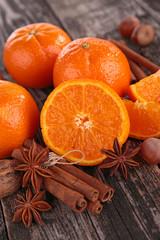 orange and spices