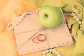 Conceptual photo wedding in apple style