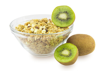 Cereal with kiwi