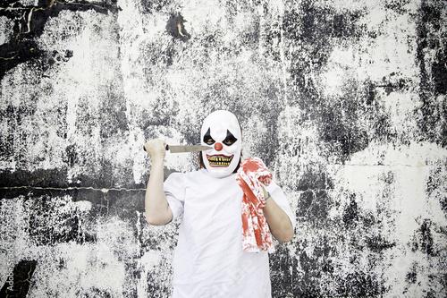 Staande foto Imagination Scary clown blood