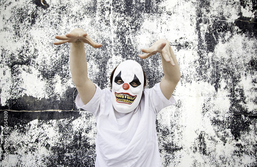 Staande foto Imagination Clown Terror Scare