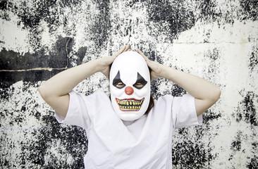 Individual face clown
