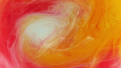 Colorful swirling abstract painting.