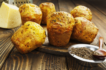 Cupcakes with cheese and cumin