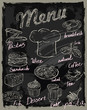 vector chalk menu - 70556944